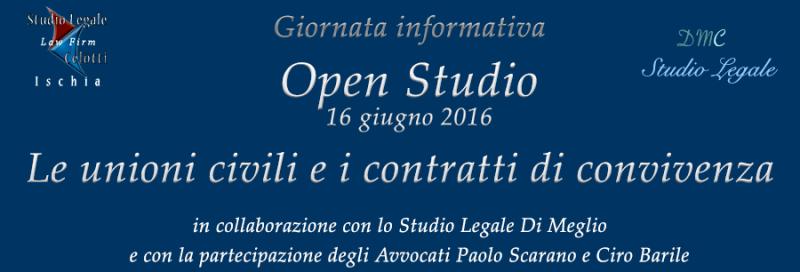 Open Studio - giornata informativa sulle unioni civili e i contratti di convivenza