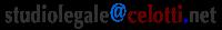 recapito email Studio Legale Celotti