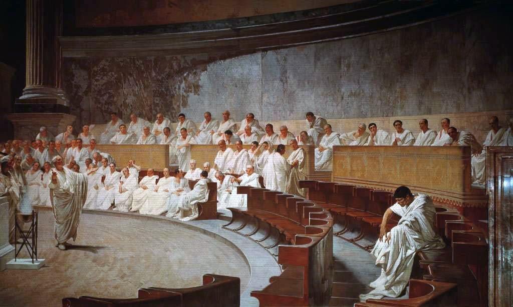Cicerone, orazione contro Catilina di Cesare Maccari