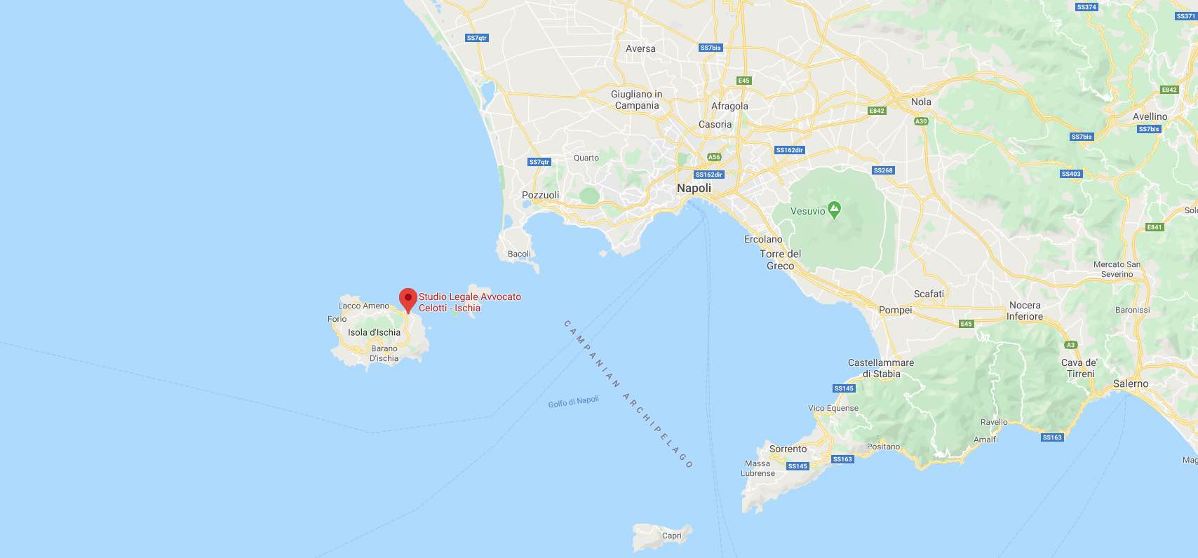 google maps Studio Legale Avvocato Celotti Ischia